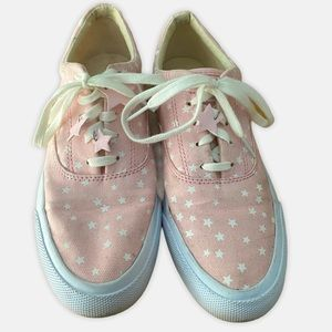 Keds anchor glow pink canvas star sneakers sz 7.5